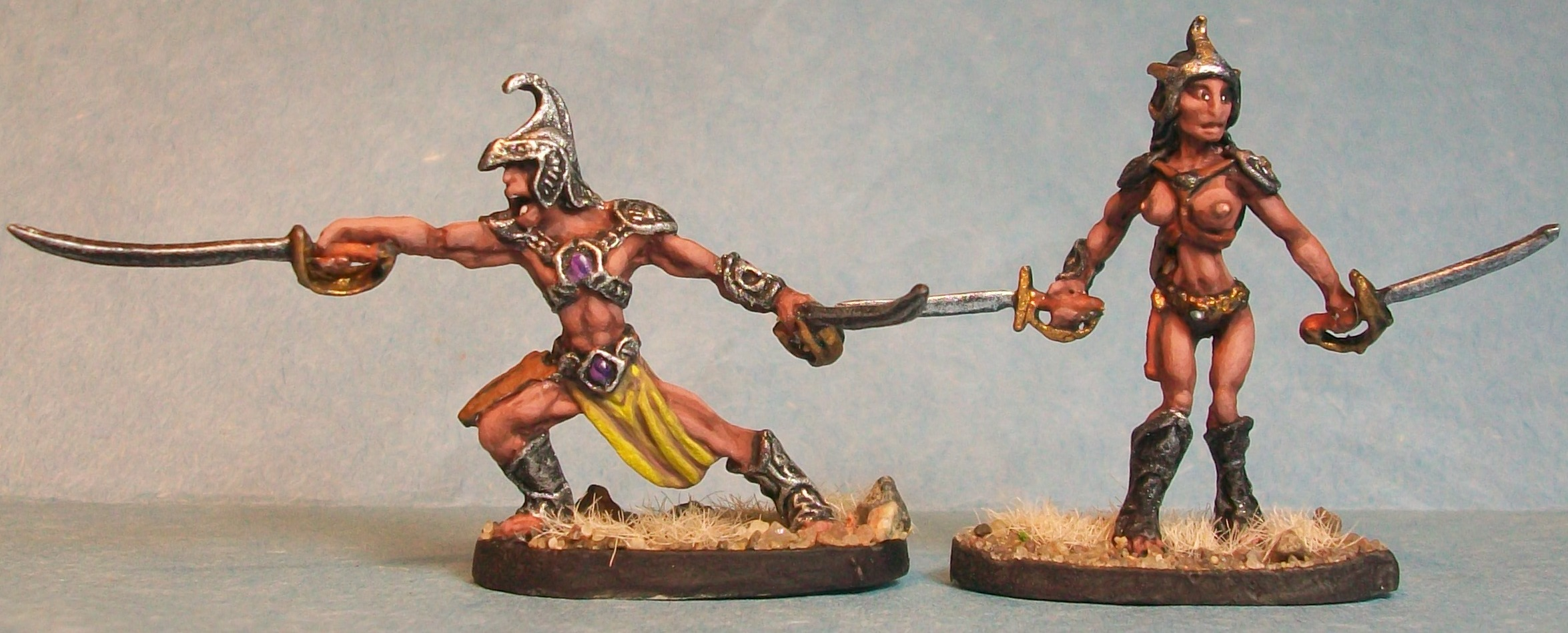 Red Martian Male and Female Warriors