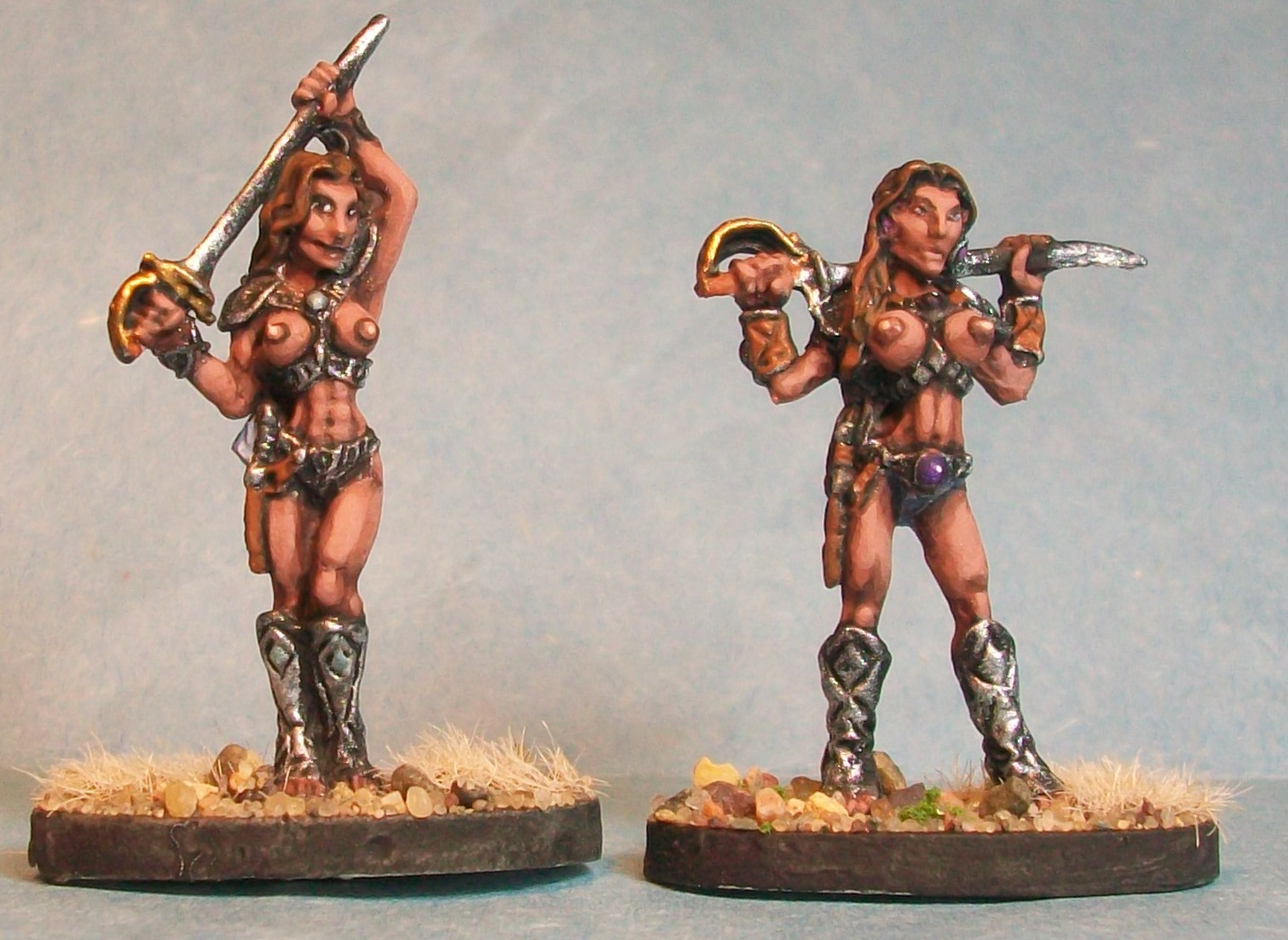 Red Martian Female Warriors
