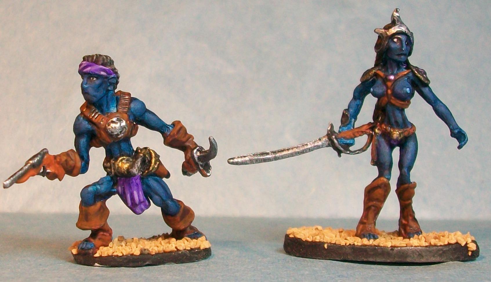 Male and Female Black Pirates